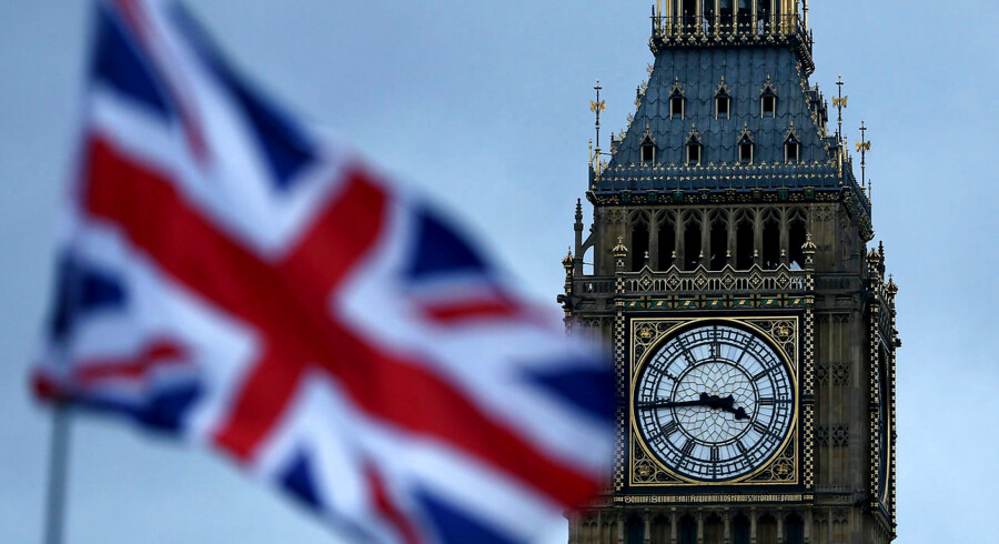 A Union flag flutters near the Houses of Parliament in London, Britain February 1, 2017. REUTERS/Neil Hall