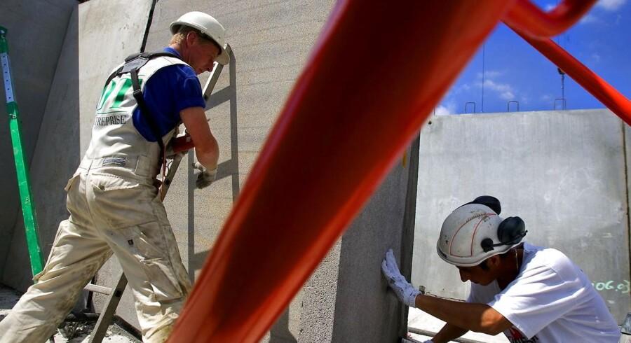 Arkivfoto. I starten af året skiftede byggeriets største problem fra manglende ordrer til manglende arbejdskraft.