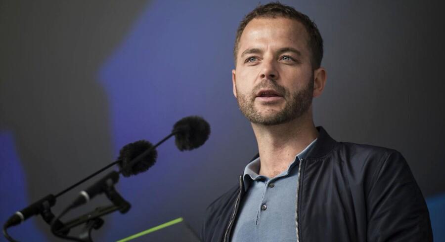 Partileder for Radikale Venstre Morten Østergaard taler på hovedscenen på Folkemødet i Allinge på Bornholm torsdag den 15. juni 2017.