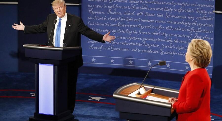 Tv-duel mellem Hillary Clinton og Donald Trump