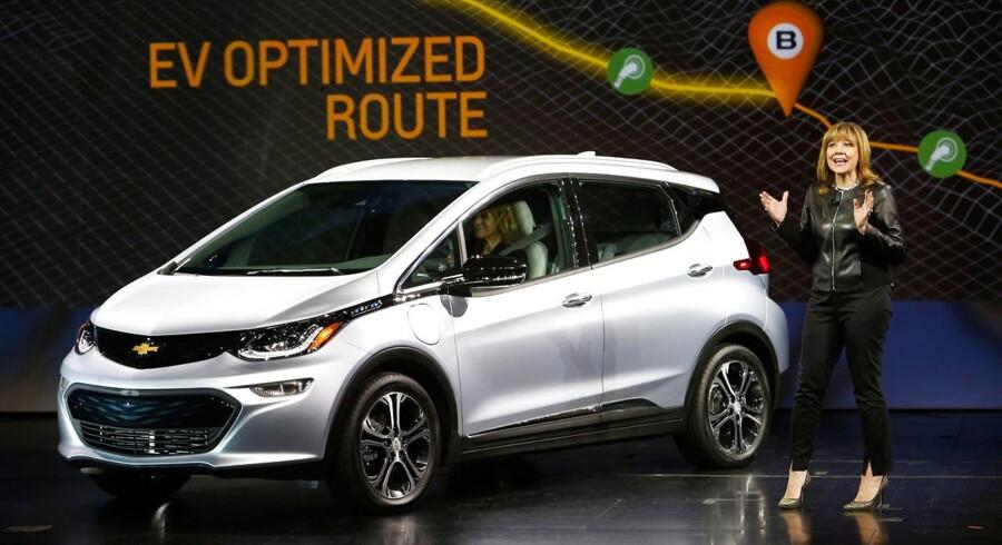 General Motors formand og CEO Mary Barra ved præsentationen af Chevrolet Bolt EV tidligere i år.