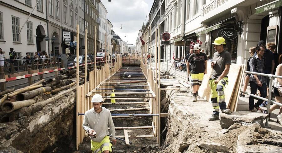 Det går bedre med at få koordineret opgravningen af gader og veje i København. Arkivfoto: Nikolai Linares