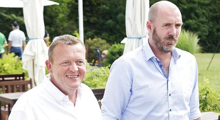 Venstres sommermøde på Hotel Maribo Park sidste sommer. Lars Løkke Rasmussen og hans nu afgående rådgiver, Christian Hüttemeier.