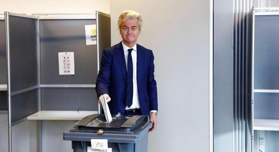 Geert Wilders, da han afgav sin stemme.