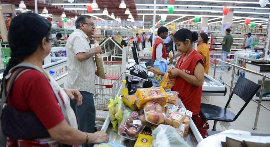 Verden har det bedre, end du tror. Her er det et supermarked i Hyderabad, Indien.