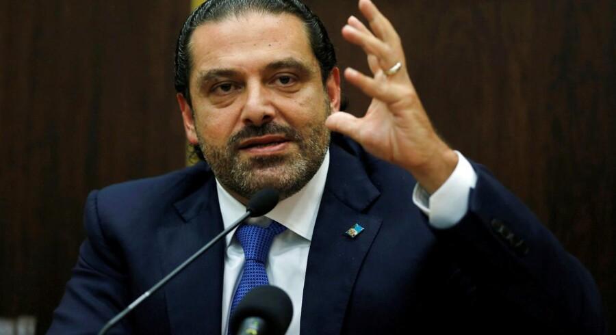 Arkivfoto. Saad al-Hariri og hans familie er velkommen i Frankrig, meddeler den franske præsidents kontor.