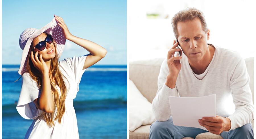 Hvis du hjemmefra ringer til familien på ferie i udlandet, skal du stadig betale udlandstakst efter 15. juni. Arkivfoto: Shutterstock/Scanpix