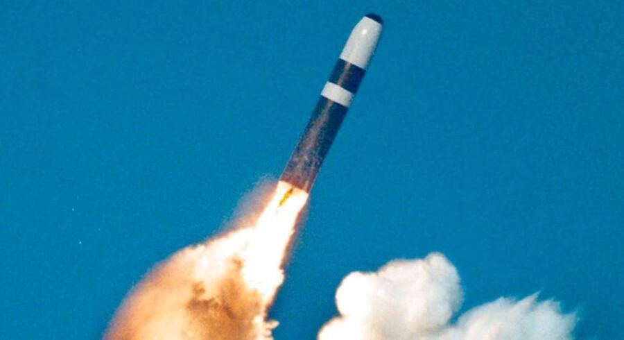 Det var en prøveaffyring af et Trident II D5-missil som dette, det gik galt med for det britiske forsvar, da missilet pludselig styrede mod USAs fastland i stedet for ud over over Atlanterhavet. Arkivfoto: Reuters
