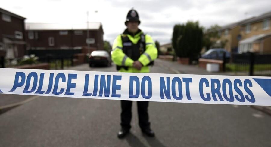 Politibetjent i Manchester.