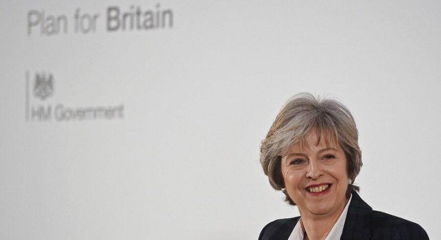 Den britiske Premierminister Theresa May under sin tale i går.