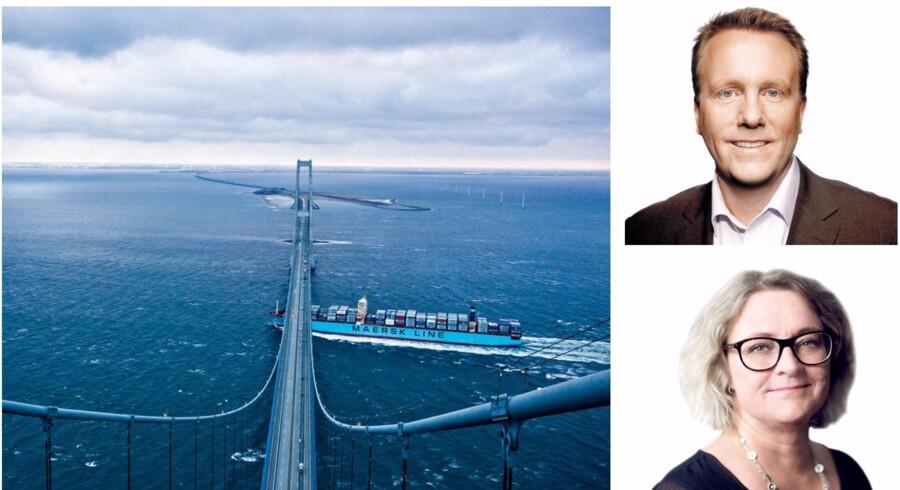Anne H. Steffensen, der er direktør for Danske Rederier sammen med Morten Bødskov (S), der er formand for Folketingets Erhvervs- Vækst- og Eksportudvalg.