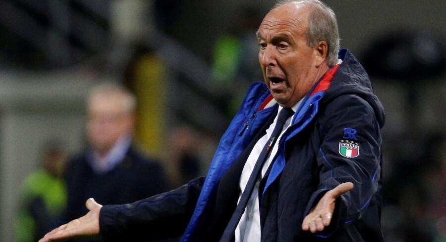 Arkivfoto. Den italienske fodboldlandstræner, Gian Piero Ventura, er fyret, efter at Italien ikke kvalificerede sig til VM næste år, oplyser Det Italienske Fodboldforbund.