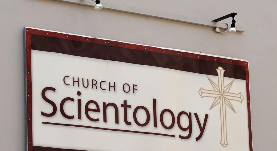 Et skilt til Scientology i Sydney, Australien. Arkivfoto. AFP PHOTO / Greg WOOD