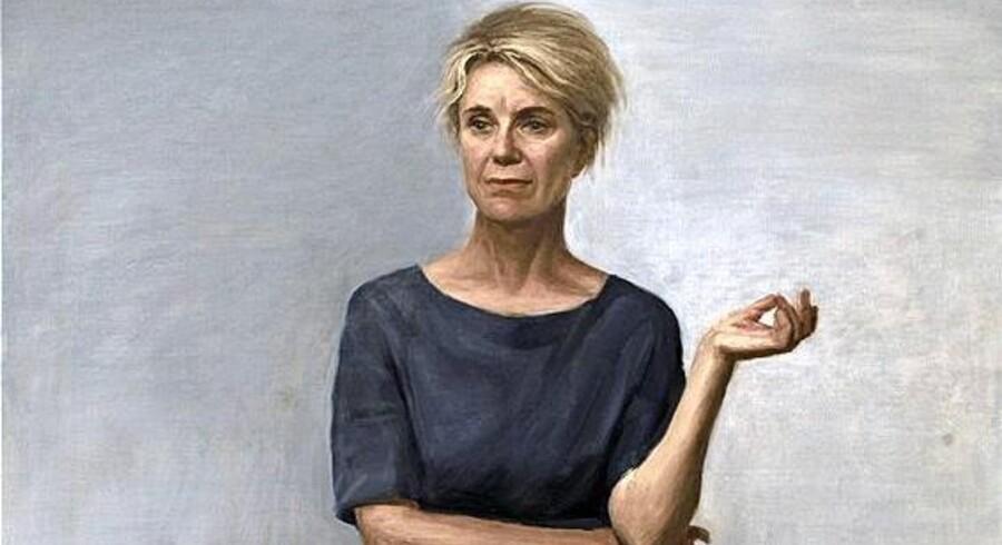 Blandt Peter Martensens nyere billeder er en serie af personligheder fra forskellige kunstarter – for eksempel skuespilleren Stina Ekblad, som mange kender fra TV-serien »Krøniken«. Foto: PR/ Janne Klerk