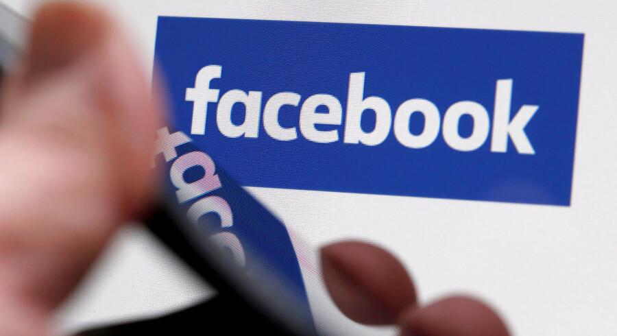 Arkivfoto: Facebook kommer onsdag 03.05 med regnskab for de første tre måneder af 2017. FILE PHOTO: The Facebook logo is displayed on the company's website in an illustration photo taken in Bordeaux, France, February 1, 2017. REUTERS/Regis Duvignau/File Photo GLOBAL BUSINESS WEEK AHEAD - SEARCH GLOBAL BUSINESS 1 MAY FOR ALL IMAGES