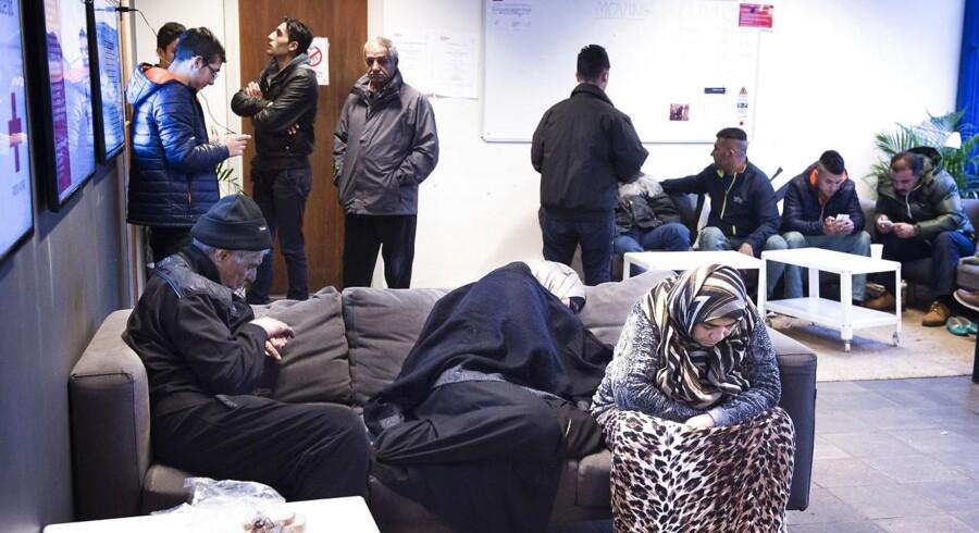 Asylansøgere i Rødekors Centeret i Auderød november 2015.