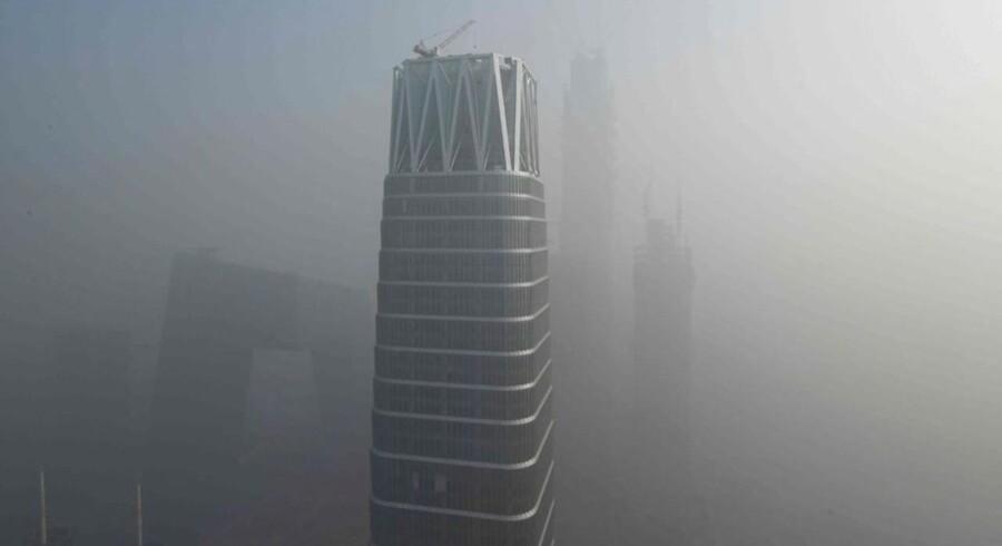 Beijing på en smogfyldt dag.