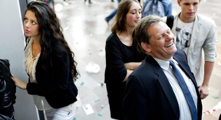 Lars Barfoed under valgkampen i 2011 - en valgkamp hvor Konservative endte med at betale mere per stemmer end nogen andre partier.