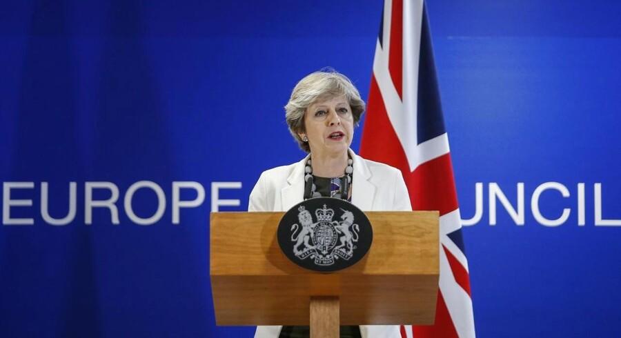 Theresa May ved dagens EU-møde i Bruxelles.