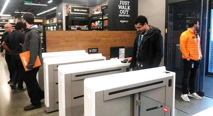 Amazon har netop åbnet deres første automatiske supermarked.
