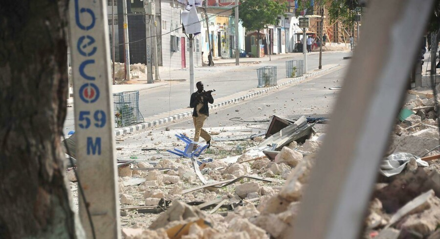 Akrivfoto: Den 25. januar stod en gruppe al-Shabaab terrorist angiveligt bag et lignende angreb på et hotel i Mogadishu.