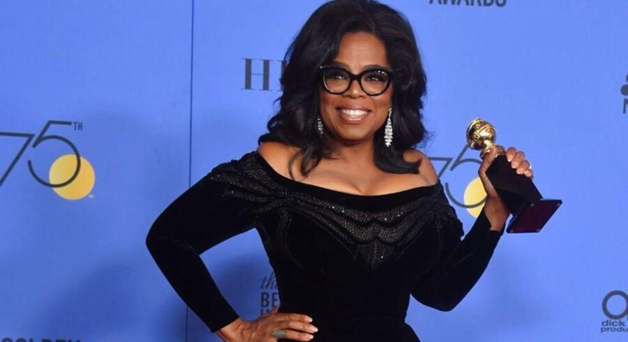Oprah Winfrey endte som aftenens hovedtaler ved Golden Globe-uddelingen.