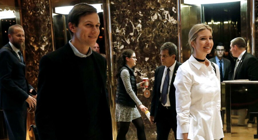 Ivanka Trump og Jared Kushner i Trump Tower in New York. REUTERS/Mike Segar