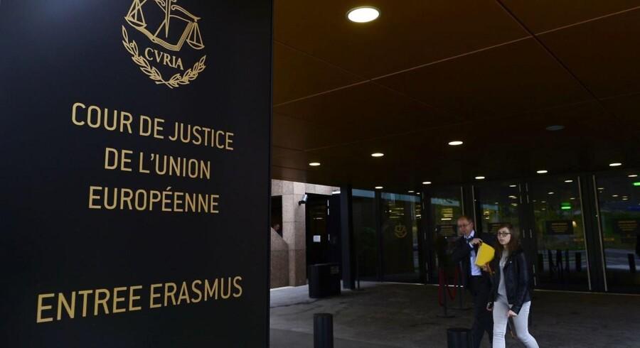 EU-Domstolens afgørelse lige før jul mod masseovervågning gjorde domstolen til modtager af årets databeskyttelsespris. Arkivfoto: John Thys, AFP/Scanpix