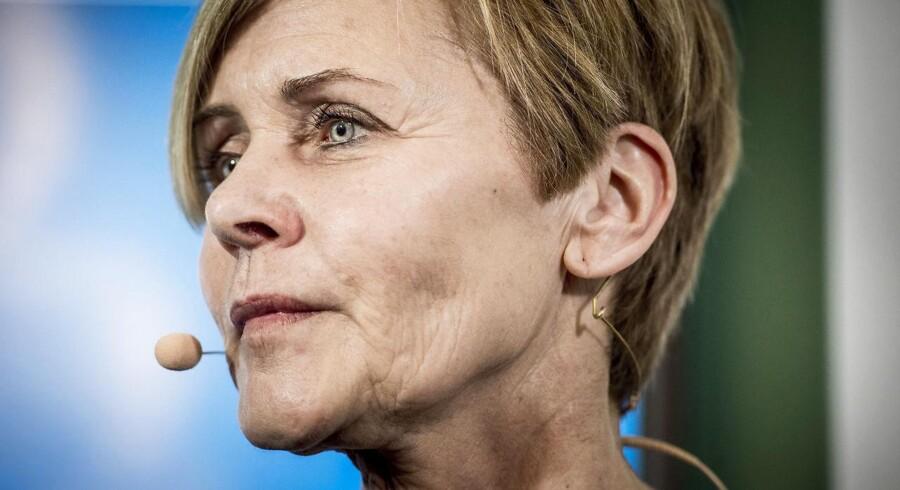 Pressemøde om de nye medieforlig med kulturminister Mette Bock (LA) i Kulturministeriet i København.