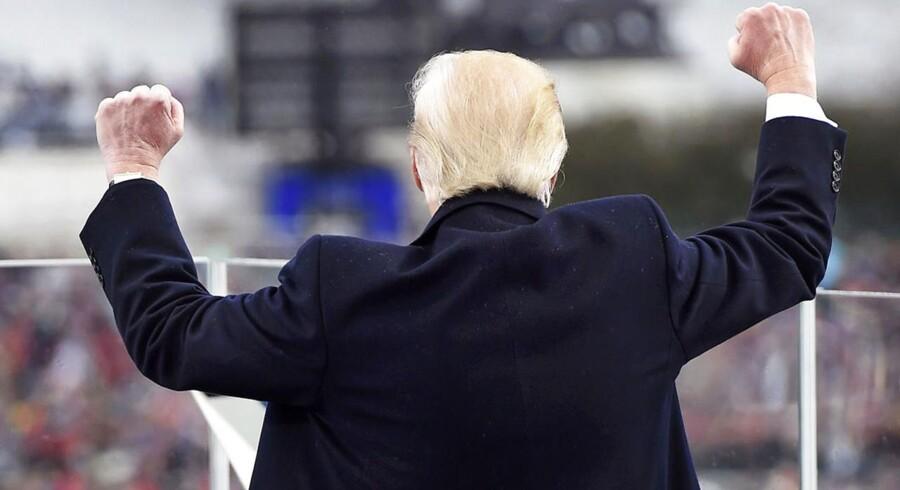 Donald Trump under indsættelsestalen.