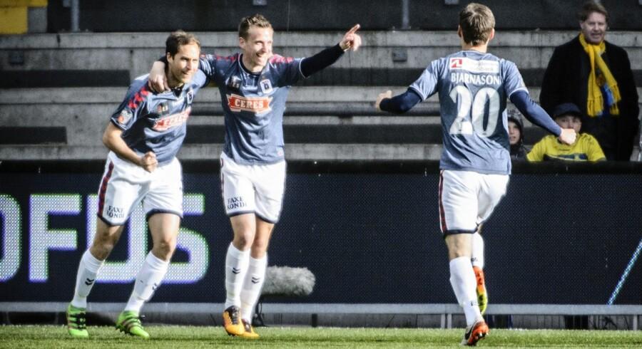 Danny Olsen og holdkammeraterne jagter tre point efter tre kampe uden sejr. Arkivfoto. Scanpix/Mathias Løvgreen Bojesen
