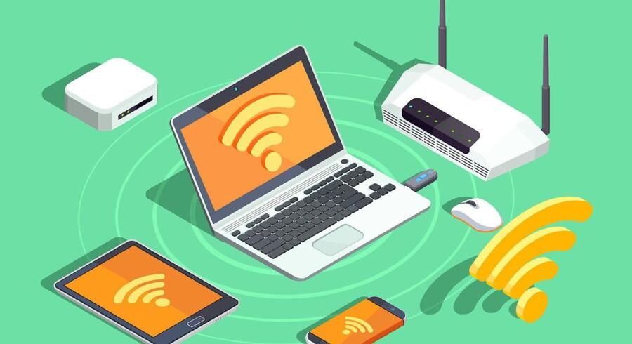 Et hul i den grundliggende sikkerhedsstandard for trådløse net er blevet opdaget. Alt udstyr - inklusiv routeren - bør derfor opdateres, lige så snart der kommer sikkerhedsopdateringer fra producenterne. Arkivfoto: Iris/Scanpix