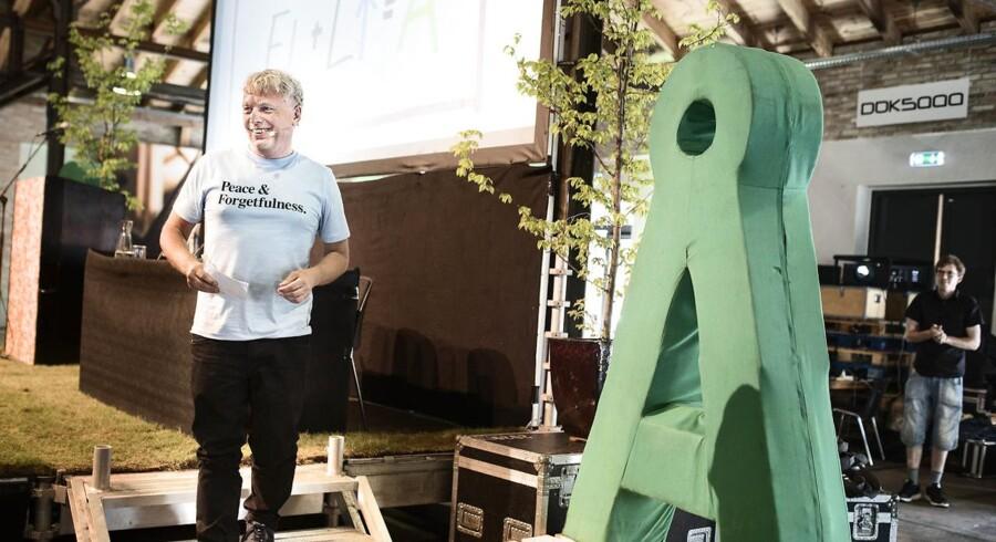 Alternativet er samlet i Odense til Landsmøde lørdag d. 27 maj 2017. Her ses Uffe Elbæk.