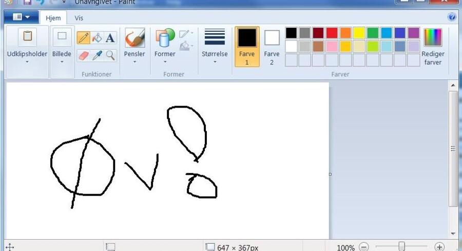 Paint er blevet manges redning, når der lynhurtigt har skullet gøres »noget« med grafik. Nu er tegneprogrammet på vej ud af Windows.