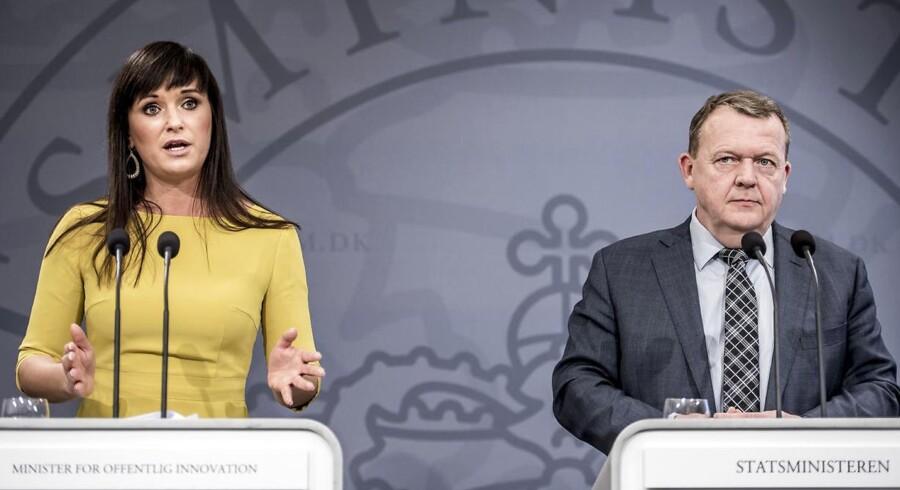 Statsminister Lars Løkke Rasmussen (V) og minister for offentlig innovation Sophie Løhde (V) præsenterede tidligere i dag, som præsenterer »Bedre balance II« for yderligere udflytning af statslige arbejdspladser.