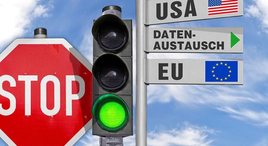 De første tre virksomheder har nu fået en bøde for på ulovligt grundlag at flytte europæiske data til servere i USA, og flere bøder er på vej, siger det tyske datatilsyn. Arkivfoto: Iris/Scanpix