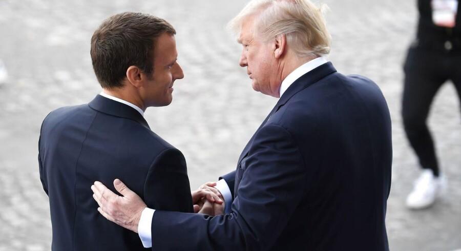 Præsidenterne Macron og Trump. Måske er der ved at ske noget på klimaområdet.