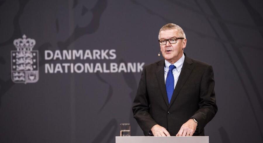 Lars Rohde, nationalbankdirektør holder pressemøde i Nationalbanken i København onsdag d. 7 december 2016. (Foto: Ólafur Steinar Gestsson/Scanpix 2016)
