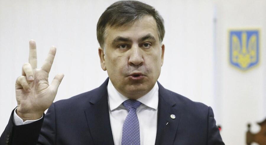 Tidligere georgisk præsident t Mikheil Saakashvili er blevet bortført af maskerede mænd.