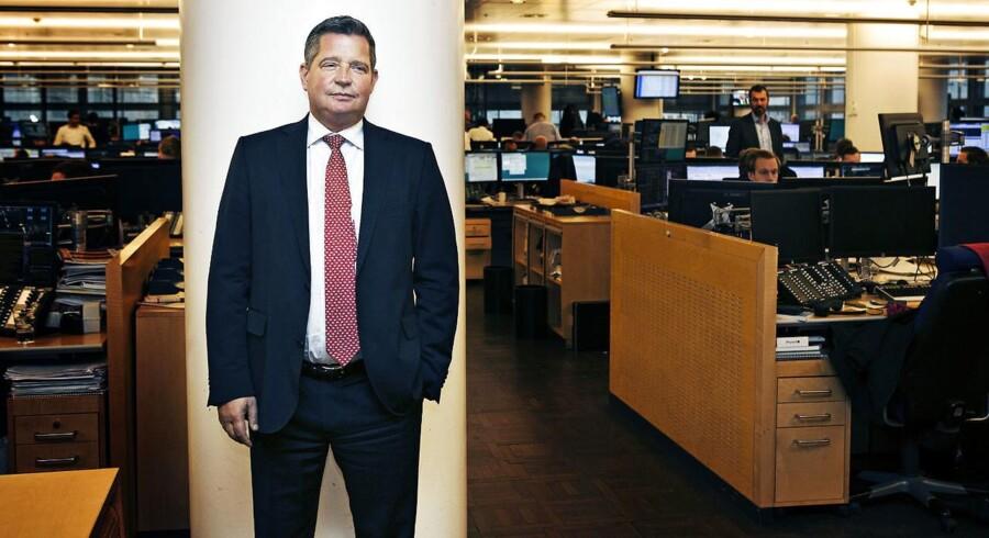 Glenn Söderholm, som er underdirektør i Danske Bank. Han er chef for det som hedder Corporates & Institutions - det vil sige store erhvervskunder og institutionelle kunder, og taler om et paradigmeskifte med Danske banks nye digitale løsning til erhvervslivet.