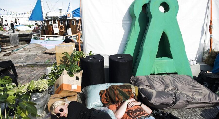 Stilhed før stormen inden Folkemødet for alvor går i gang. Folkemødet 2017 afholdes i Allinge på Bornholm fra den 15.-18. juni. (Foto: Ida Marie Odgaard/Scanpix 2017)