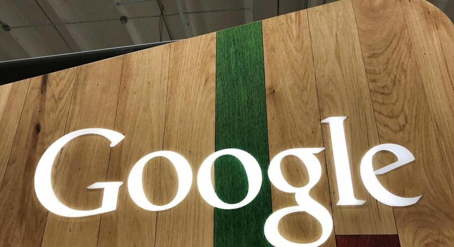 Google ser onsdag ud til at få den hidtil største konkurrencebøde i EUs historie. Arkivfoto: Lucy Nicholson, Reuters/Scanpix