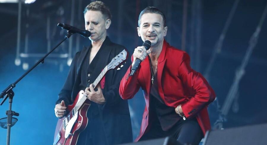Arkivfoto. Depeche Mode besøger Danmark for tredje gang på lidt mere end et år, når bandet kommer til Tinderbox.