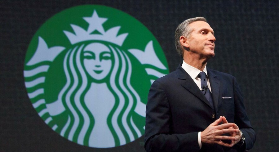 Starbucks topchef, Howard Schultz, forlader til april sin post. Nye kaffebarer venter forude. Arkivfoto: David Ryder, Reuters/Scanpix