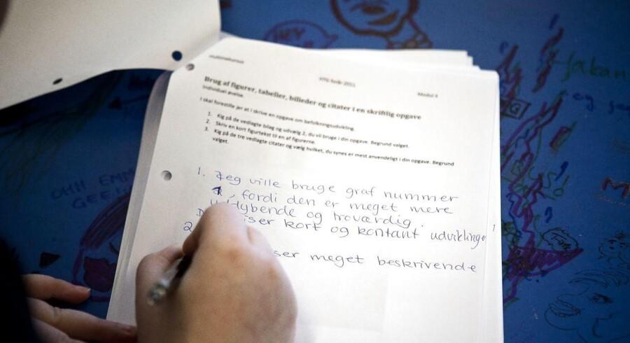 På Høje-Taastrup Gymnasium har 62 procent af eleverne i 1.g-klasserne en anden herkomst end dansk. (arkivfoto)
