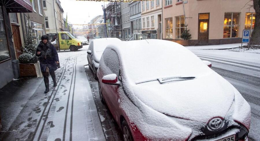 Arkivfoto. Køreprøver aflyses hos politiet flere steder på grund af vejret.