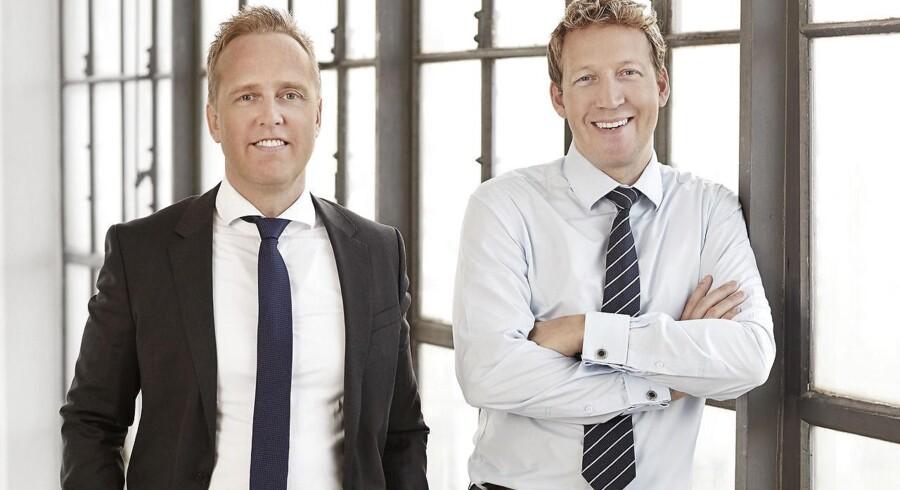 3Shape og virksomhedens to stiftere og co-CEOs, Tais Clausen og Nikolaj Deichmann.