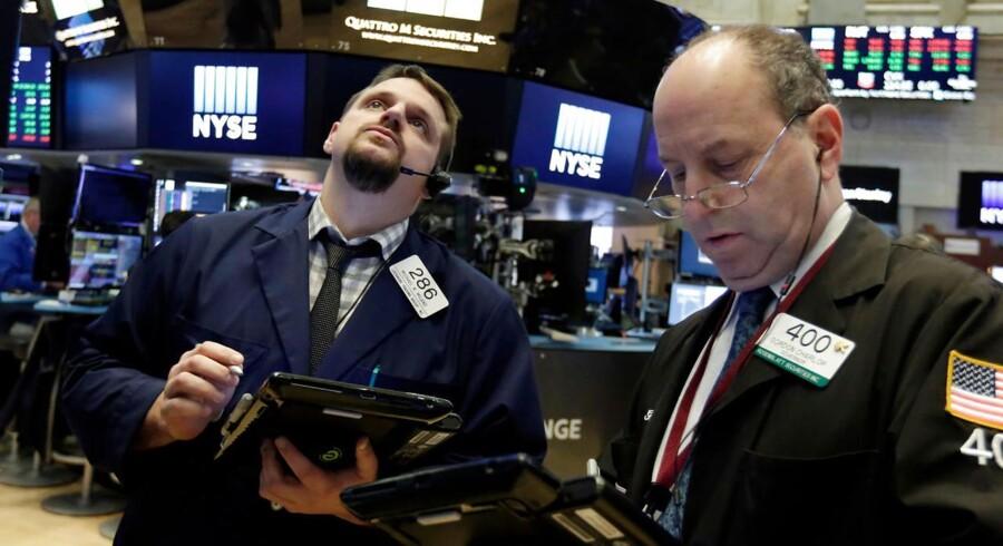 New York Stock Exchange, onsdag d. 4. april 2018. (AP Photo/Richard Drew)