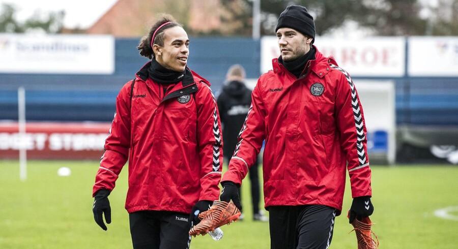 Yussuf Yurary Poulsen, Danmark og Nicklas Bendtner, Danmark - Herrelandsholdet i fodbold.