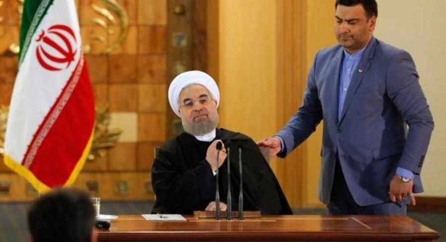 Den iranske præsident, Hassan Rouhani.